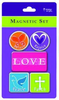 MGS 002 Magnetsett - Believe-Rejoice-LOVE-Peace-Faith